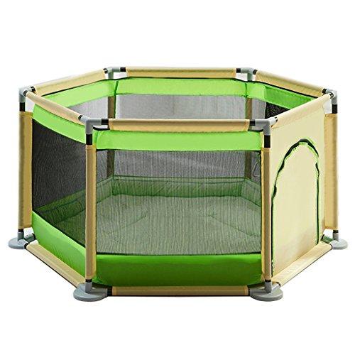 Parc bebe Bébé Parc avec Coussin Pad, Intérieur Extérieur Stable Enfants Toddler Kids Parc Clôture Heavy Duty, Vert (Couleur : Vert)