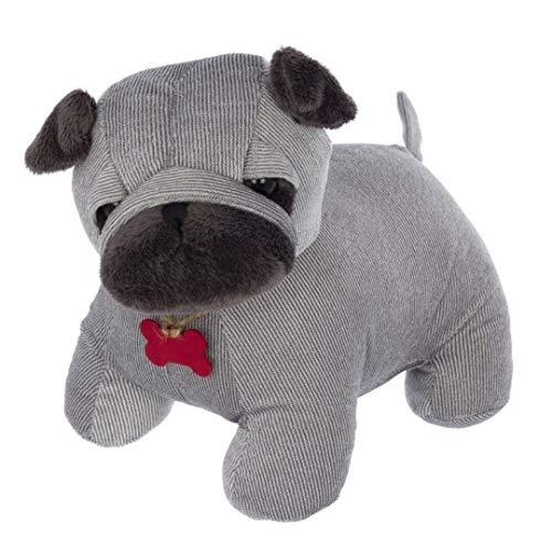 Muñeco sujeta puertas de bulldog color gris