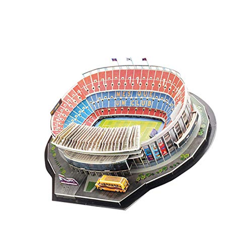 Stadium 3D Puzzle FC Barcelona Camp NOU Stadium 3D Puzzle para niños Adultos, Kit de construcción de Modelos de Estadio