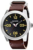 NIXON Men's Corporal Series Analog Quartz Watch / Leather or Canvas Band / 100 M Water Resistant and...