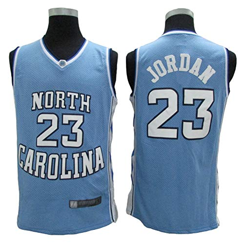 XH-Sport North Carolina University Edition 23# Michael Jordan Classic - Ropa de baloncesto para hombre, diseño vintage y transpirable, color A, tamaño L(180CM/75~85Kg)