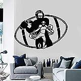 wZUN Calcomanía de Pared Deportiva, Jugador de fútbol, Juego de Equipo, Ventilador de Pelota, Dormitorio, decoración del hogar, Pegatina de Vinilo 42X57cm