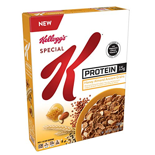 Kellogg's Special K Probiotics, Breakfast Cereal, Protein Honey Almond Ancient Grains (10 Count of 11 oz Boxes) 110 oz