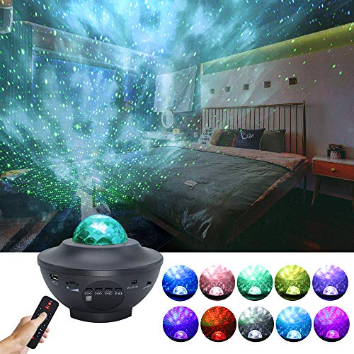 GalaxyProjector, Star Light Projector for Bedroom Decor/LedSkyLite-Laser Nebula Cloud Projector for Kids Adults Christmas Party, Music Starry Projector Night Light with Bluetooth Speaker