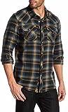 True Religion Long Sleeve Slim Fit Plaid Western Shirt, S, Ambush