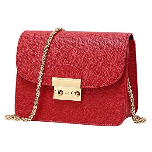West See Kleine Damentasche Umhängetasche Citytasche Schultertasche Handtasche, Farbenwahl (Rot)
