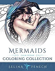 mermaids coloring collection calm ocean by Selina Fenech