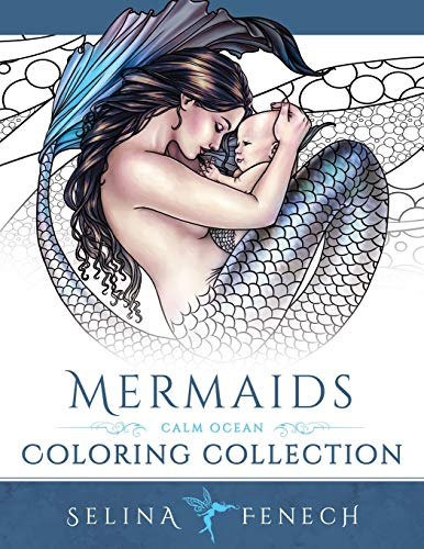 Mermaids - Calm Ocean Coloring Collection (Fantasy Coloring)