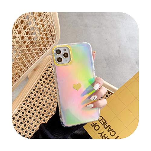 Cuty-girl - Funda transparente para iPhone 11 Pro Max X XR XS Max 8 7 6 6s Plus de lujo de papel láser suave TPU