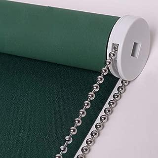 PASSENGER PIGEON Blackout Window Shades, Premium Steel Bead Chain Thermal Insulated Fabric Custom Dark Green Roller Blinds Shades, 72