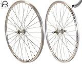Redondo 28 Zoll Laufrad Set Hinterrad Vorderrad 28' V-Profil Hohlkammer Felge Silber