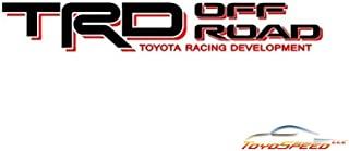 TOYOSPEED LLC TRD Decals Vinyl Stickers 1 Pair Black/RED Graphics FIT for Toyota Tundra Tacoma Truck