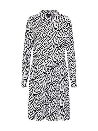 Object Damen Blusenkleid OBJBONNIE LS Dress PB7 schwarz 34