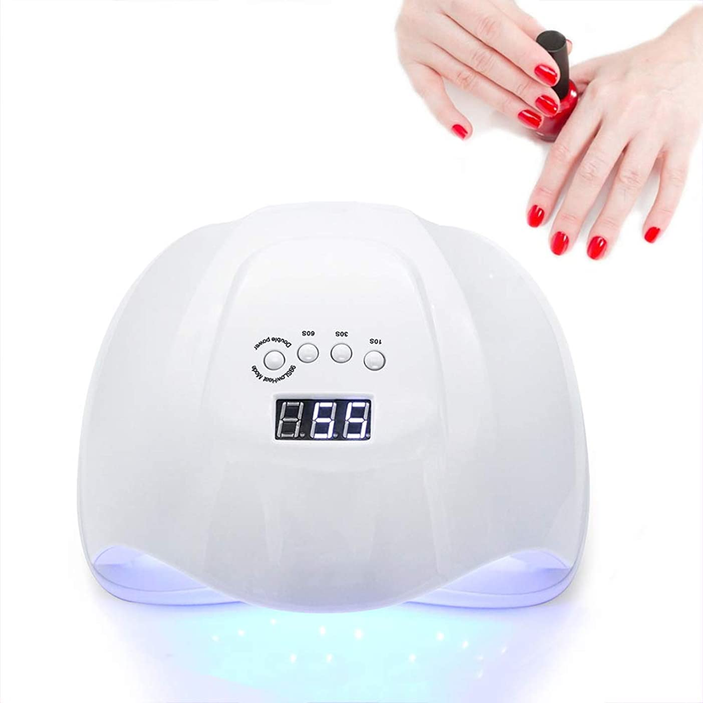 荒らす雲コークスネイルドライヤーネイルライトオールジェルポリッシュ用硬化ランプ36 LEDデュアル光源10秒/ 30秒/ 60秒タイマータッチスマートボタン自動センサー