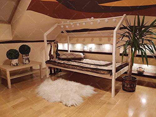 Oliveo Mon lit cabane Barrières de sécurité, Lit pour Enfants,lit d'enfant,lit cabane avec barrière Bois...