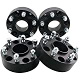 DCVAMOUS Black 6x5.5 Hubcentric Wheel Spacers 2 Inch Compatible with Chevy-GMC 6 Lug, 4pc 6x139.7 Wheel Spacer with 14x1.5 Studs for 1999-2021 Suburban/Silverado/Sierra/Yukon 1500, 1995-2021 Tahoe