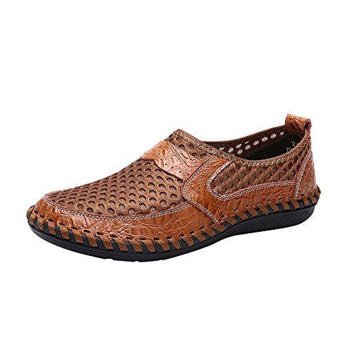 Clearance Sale [EU36-EU49] ODRD Schuhe Herren Atmungsaktive Sport-Freizeitschuhe der Männer Wave Slacker Mesh Pedal Shoes Peas Schuhe Combat Hallenschuhe Worker Boots Wanderschuhe Sneakers Sport