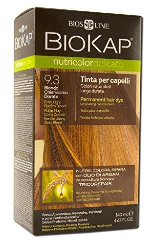 Biokap Colorazione per Capelli, 9,3 New Biondo Chiarissimo Dorato, 150 ml