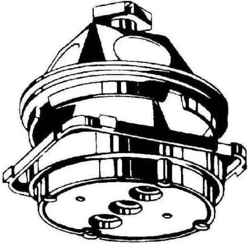 Kaiser 1249-50 Beton-Deckendose 45Grad 60x55mm
