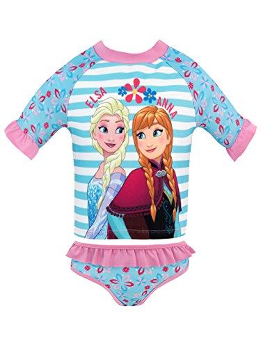 Disney Mädchen Frozen Zweiteiliger Badeanzug Blau 134