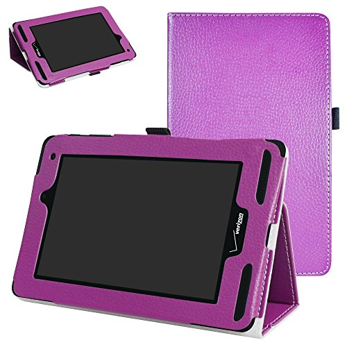 Mama Mouth for Verizon Ellipsis 7 4g LTE Case,Slim Folio 2-Folding Stand Case Cover for 7 Verizon Ellipsis 7 4g LTE Tablet,Purple