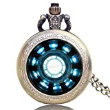 Pocket Watch LYF Moda Iron Man Películas Extensión Tony Stark Iron Man Cadena Reactor del Arco...