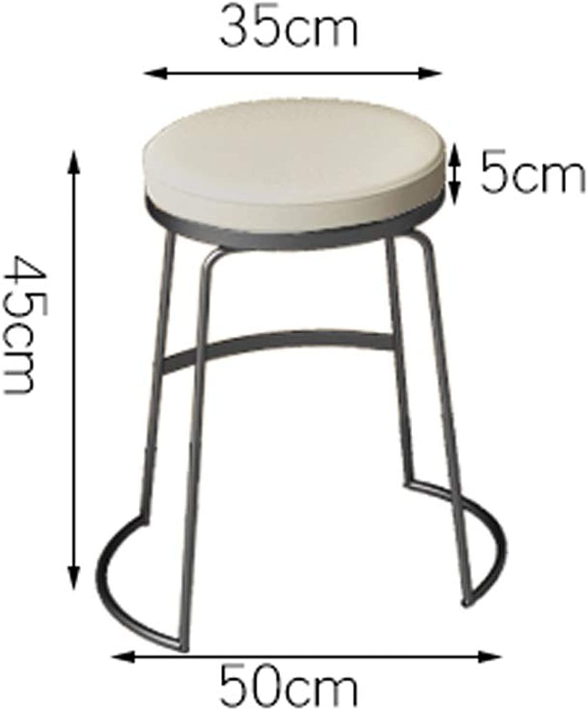 TXXM Barstools Bar Stool Breakfast Stool Counter Stool high Stool Multi-color Multi-Size bar Stool (color   A-45cm)