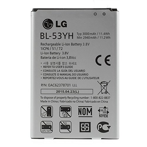 BATERIA BL-53YH 3000 mAh PARA LG OPTIMUS G3 D850 D855 D830 D851 BL 53YH