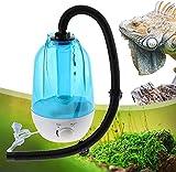 WSVULLD Humidificador de Reptil de 4L, generador de dispensadores de Niebla de Agua de Reptil, con Tubo expandible, para Serpientes Tortugas lagartas, Camaleones, Ranas, Tortugas