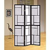 Benzara Room Divider, Black