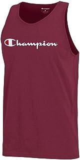 Champion Script Logo Men's (Garnet) Sleeveless Tank Top