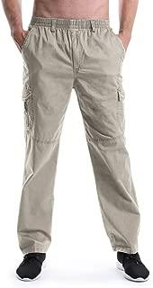 mens elastic waist cargo jeans