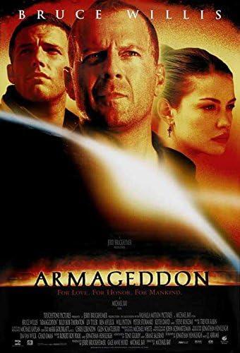 Poster film Armageddon pada tahun 1998.