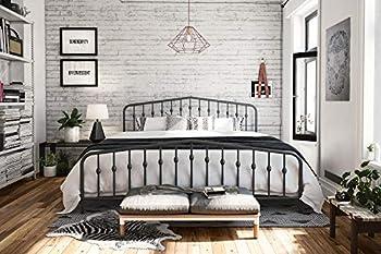 Novogratz Bushwick Metal Bed with Headboard and Footboard