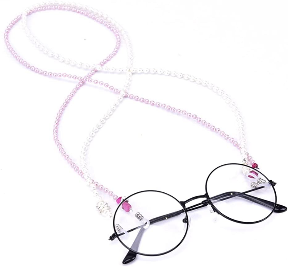ZYKBB Sunglasses Chain Imitation Pearl Neck Holder Beaded Lanyard Cord Reading Glasses Eyeglasses Chain Rope Accessories