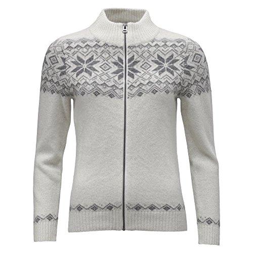 ICEWEAR Damen-Nótt-Strickjacke aus Angora-Wolle | Pullover mit Stehkragen und Reißverschluss | Winter und Sport | nordisch inspiriertes Sternenmuster