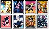 Naruto Art Prints Poster Uchiha Itachi Kakashi Boruto lienzo decoración de pared, 8 x 10 pulgadas, sin marco, 8 unidades
