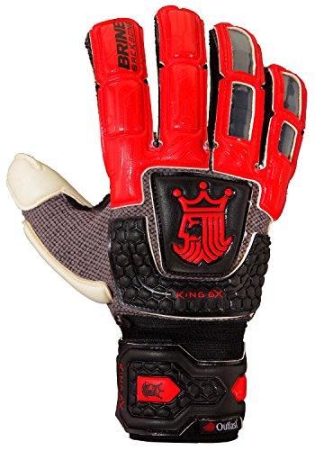 Brine King Premier 6X 2015 Goalkeeper Gloves (Red/Black/White, 11)
