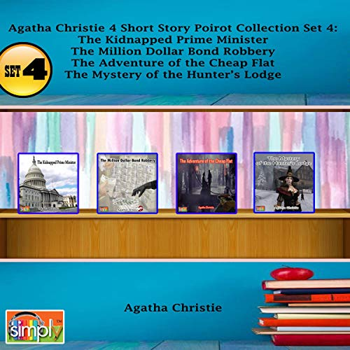 Agatha Christie 4 Short Story Poirot Collection, Set 4 cover art