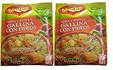 MAGGI Sopa Criolla Gallina con Fideos 60 gr. - 2 Pack / Chicken Noodle Soup 2.1 oz. - 2 Pack