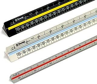 Righello graduato con scala di riduzione 853 HP-B per architettura scala 1:100:200:250:300:400:500 Faber-Castell 176532