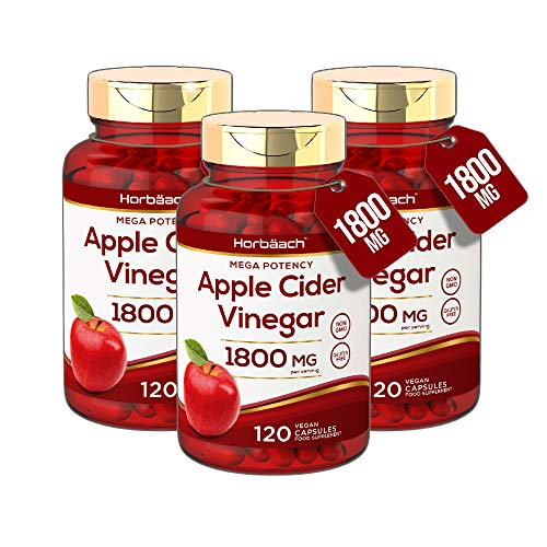 Apple Cider Vinegar 1800mg | 360 Capsules | High Strength Weight Loss Formula | Non GMO, Gluten Free & Vegan | by Horbaach