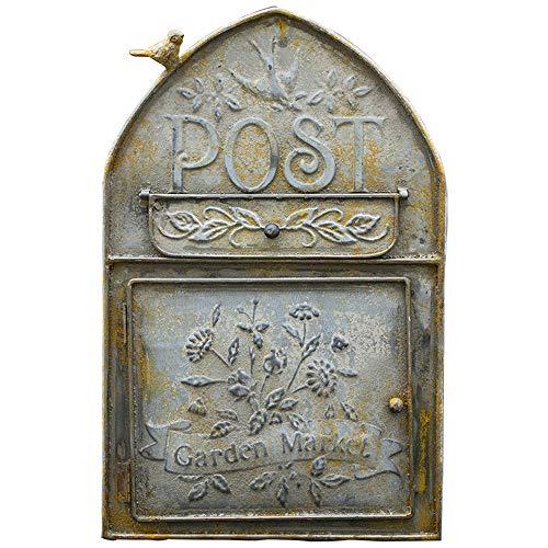 TentHome Wandbriefkasten Briefkasten Wand Mailbox Postkasten Landhaus Schmiedeeisen Post Zeitung Letterbox Briefkastenanlage Wanddekoration Vogel-Figur