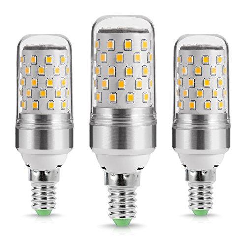 LOHAS 9Watt E14 LED Kerze Lampen, E14 LED Mais Glühbirnen, 80Watt Glühlampe äquivalent, 1000lm, Warmweiß 2700K, Nicht Dimmbar, Kleine Edison Schraube Kerze Glühbirnen, 220-240V AC, 3er Pack