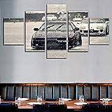 5 Panel/Set Lienzos Handart Cuadro En Lienzo Cinco Partes HD Clásico Óleo Impresiones Decorativas Cartel Arte Pared Pinturas Hogar Lienzo Cartel De Coche Deportivo