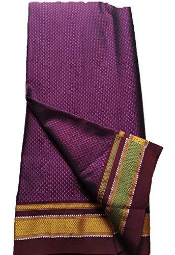 SPK home decor K Maharashrian silk, khun Fabric for Women | Magenda colour| 1 Meters |1.5 Meters | 2.0 Meters | 3 Meters | 5 Meters | for Making Blause, Kurtis, Gowns, Palazzo, Patiyala, Skirt etc (1.5 Meter)