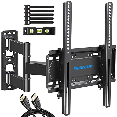 Full Motion Tv Mount Tv Wall Mount With Swivel And Tilt For Most 26 55 Inch Flat Screen Tvs Wall Mount Tv Bracket With Dual Articulating Arms Max Vesa 400x400 Holds Up