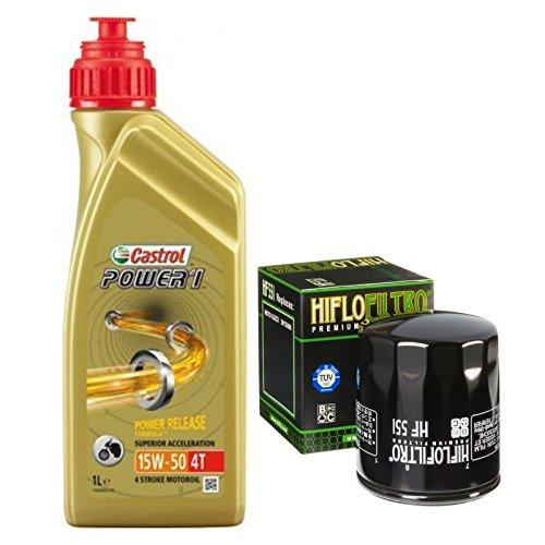 Kit Castrol Power 1 15W50 oliefilter motorolie GUZI SPORT IE 96/00
