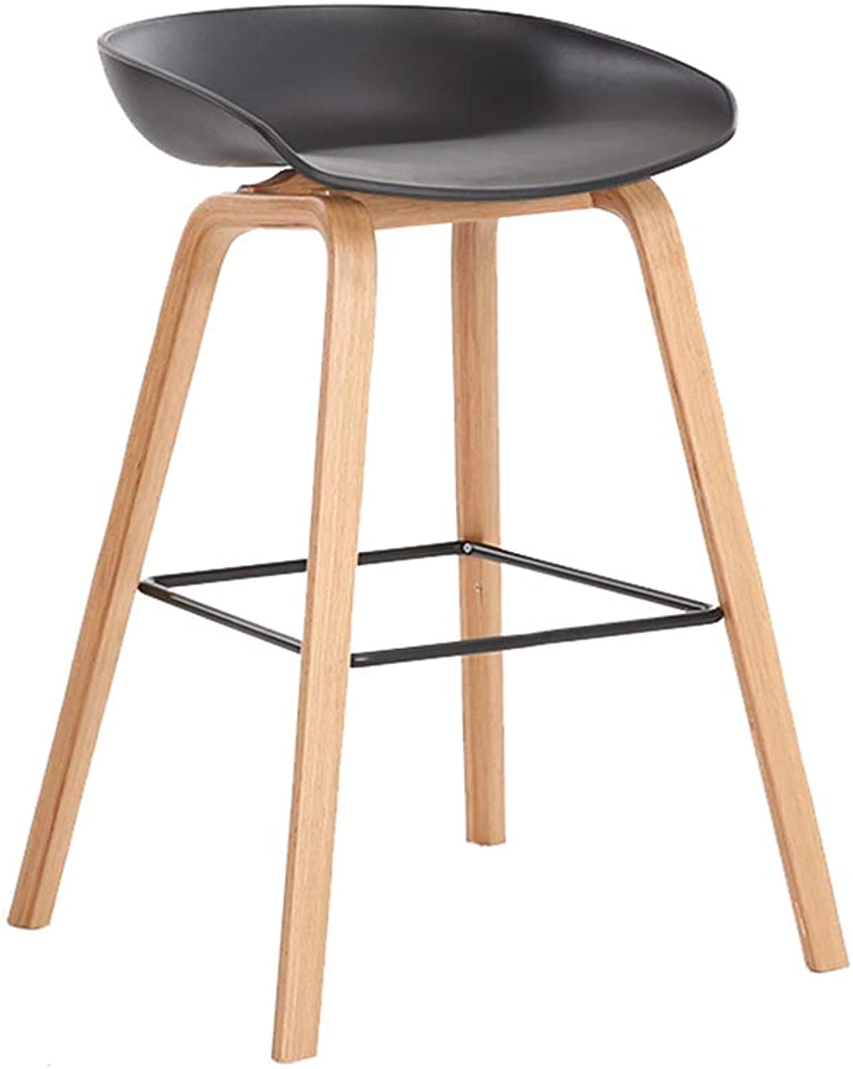 Bar Stool Creative Bar Chair Nordic Bar Chair Modern Minimalist Front Desk High Stool for Wooden Legs for Household Bar Pub Counter Kitchen Cafe