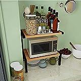 XAGB La cocina del hogar suministra el estante 50 * 30 * 50.8cm del almacenamiento del hierro labrado del metal doble (Color : D)
